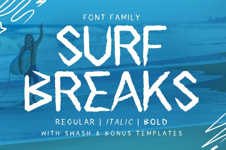 Surf Breaks - Font Family & Bonus