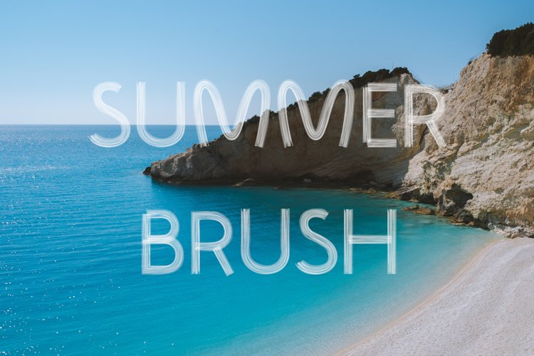 White Summer Brush Font