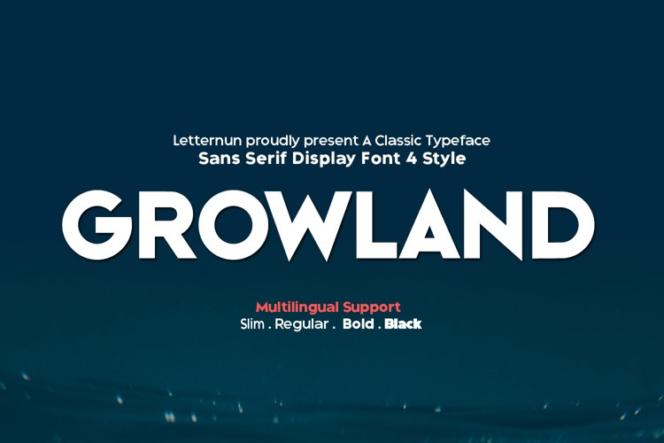 Growland Font Family example image 1