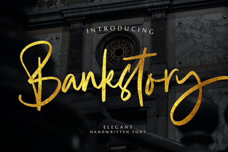 Bankstory - Handwritten Font example image 1