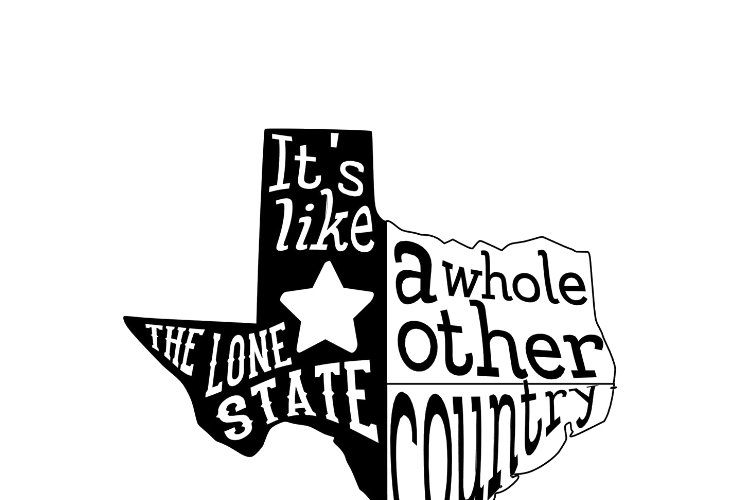 Texas Silhouette - Lone Star State