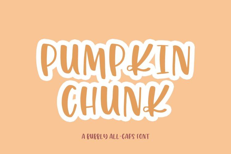 Pumpkin Chunk Sans Font example image 1