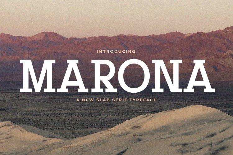 Web Font Marona example image 1