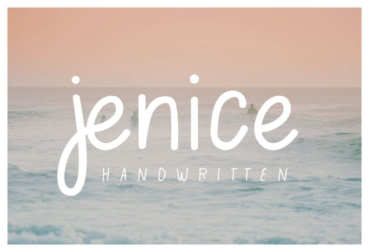 jenice | casual handwritten font example image 1