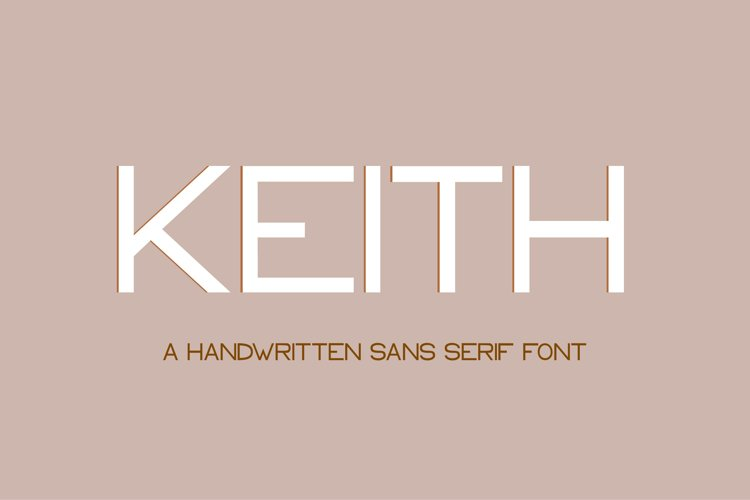 Keith - a modern sans serif font example image 1
