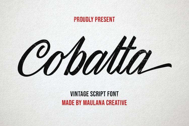 Cobalta Vintage Script Font example image 1