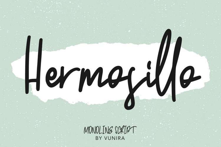 Hermosillo   Monoline Script example image 1