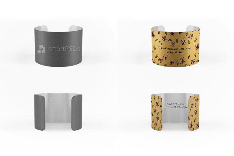 1.75 in Chromaluxe Cuff Bracelet Design Mockup example image 1