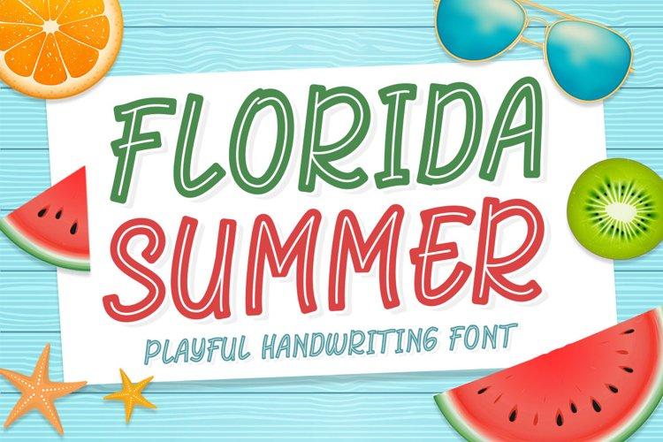 Florida Summer - Playful Handwriting Font example image 1