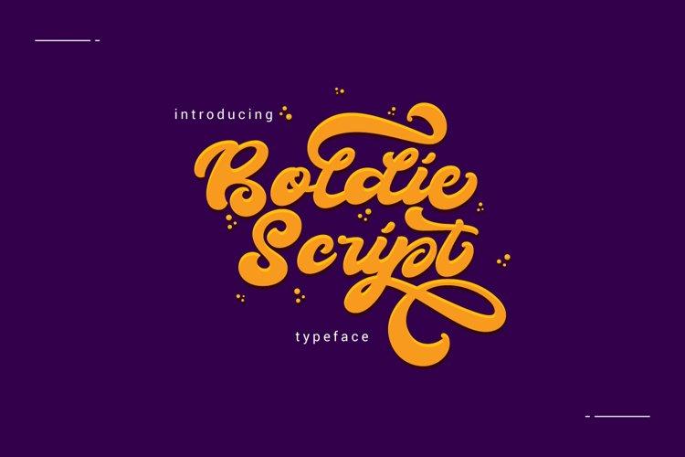 Boldie Script Typeface example image 1