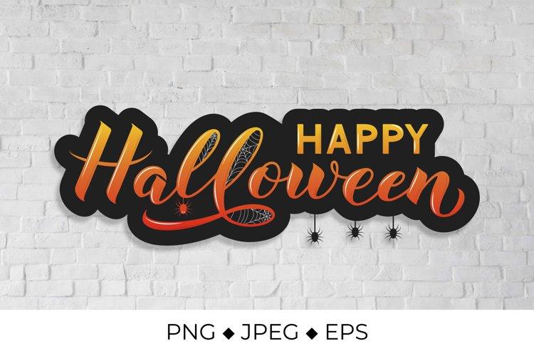 Happy Halloween Lettering Halloween Quote Sublimation Png 813105 Sublimation Design Bundles