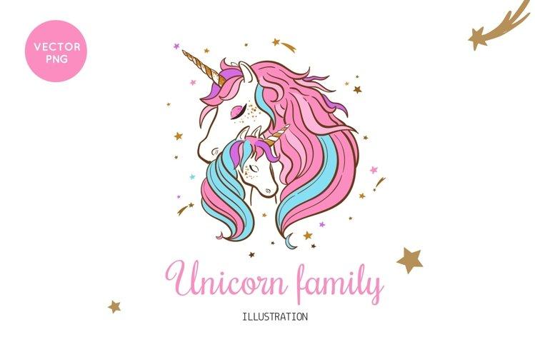 Unicorn t-shirt print children illustration example image 1