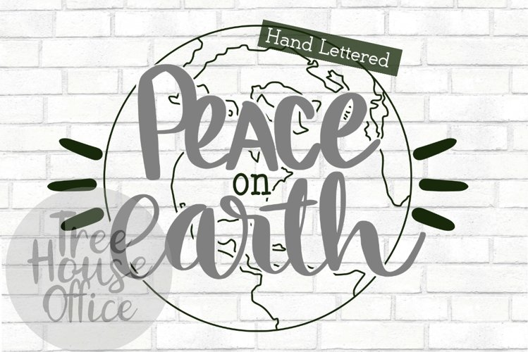 Peace On Earth Christmas Song Quote Holiday Winter Cut File example image 1