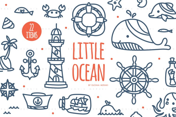 Little Ocean - Cute Summer Beach SVG Cutting file