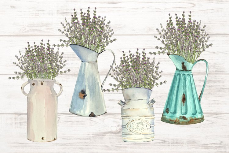 Vintage Lavender Clip Art Set