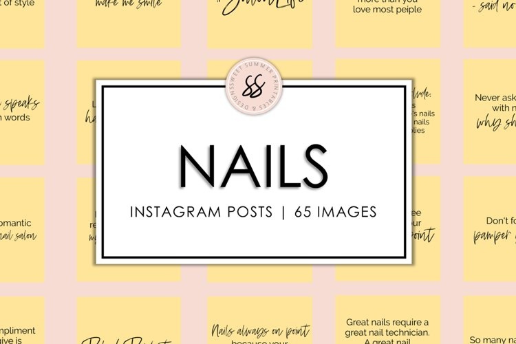 Nails Yellow Instagram Posts example image 1