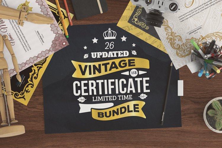 Vintage Certificate Bundle