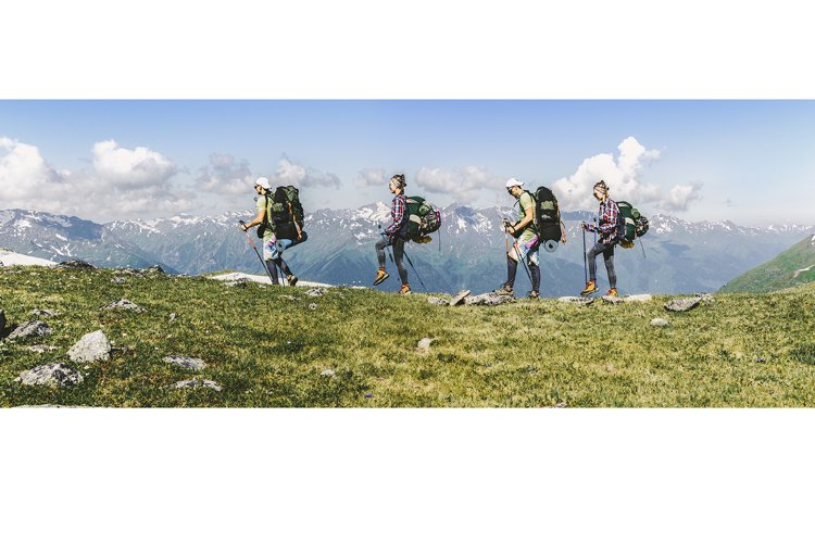 Sports travel background photo collage group of people. example image 1