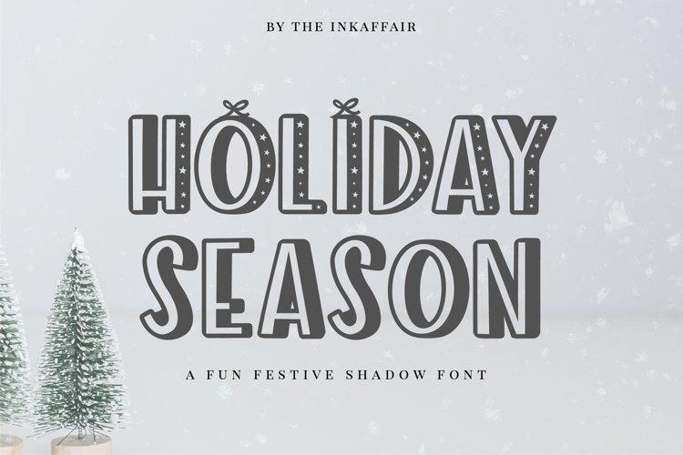 Holiday Season - a festive shadow christmas font