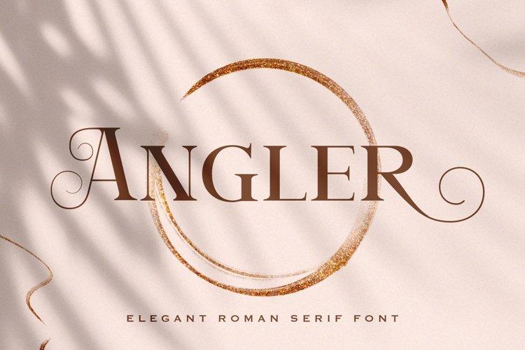 Angler - Roman Serif Font example image 1