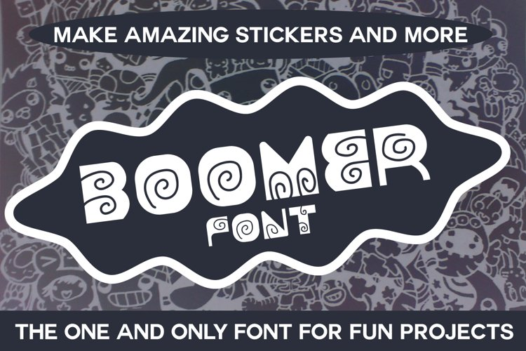 Boomer - Fun Font for Cute Projects example