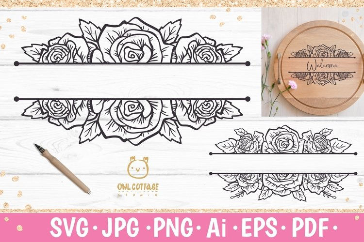 Rose SVG, rose PNG, Wedding flowers, Flowers SVG example image 1