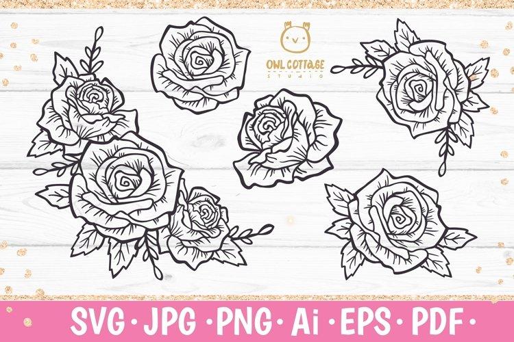 Rose SVG, rose PNG, Wedding flowers, Flowers SVG