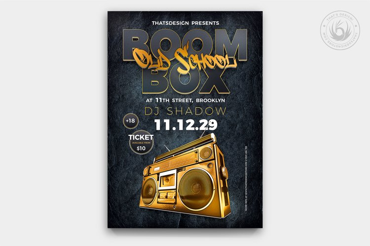 Boombox Flyer Template V2