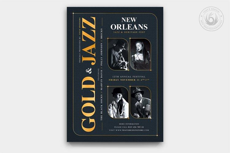 Golden Jazz Flyer Template V5