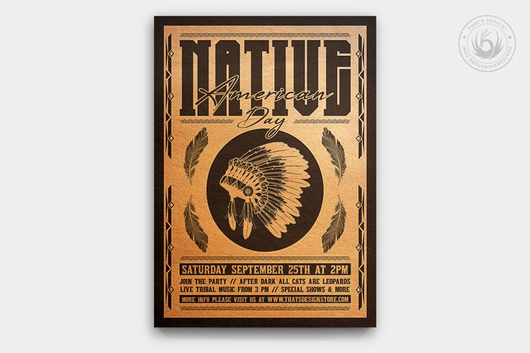 Native American Day Flyer Template V2