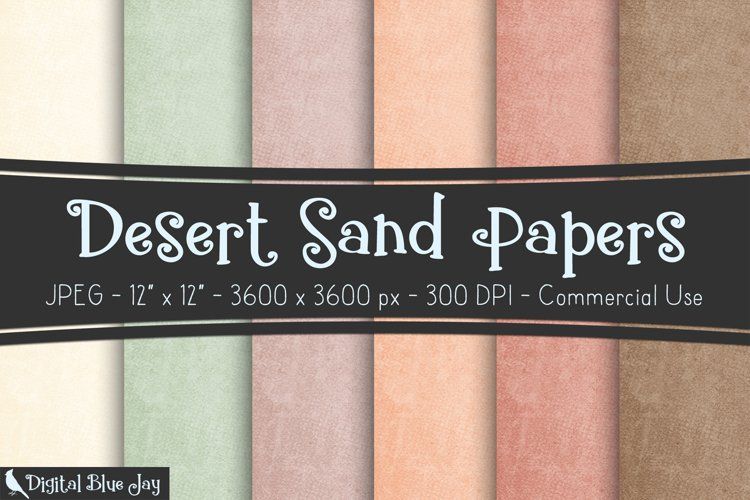 Digital Paper Textured Backgrounds - Desert Sand example image 1