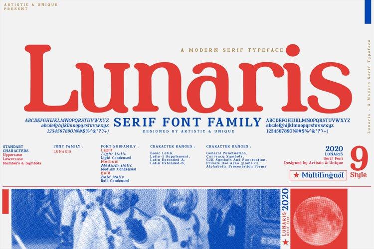 Lunaris - Serif Font Family example image 1