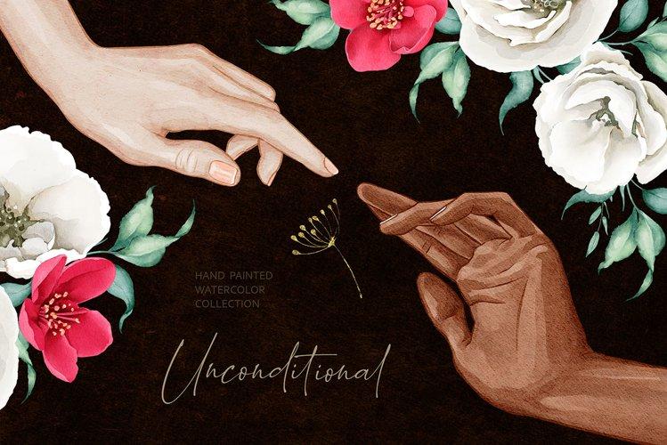 Flowers & Hands Watercolors
