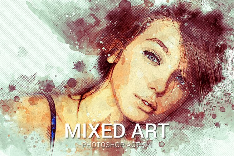 Mixed Art Photoshop Action example image 1