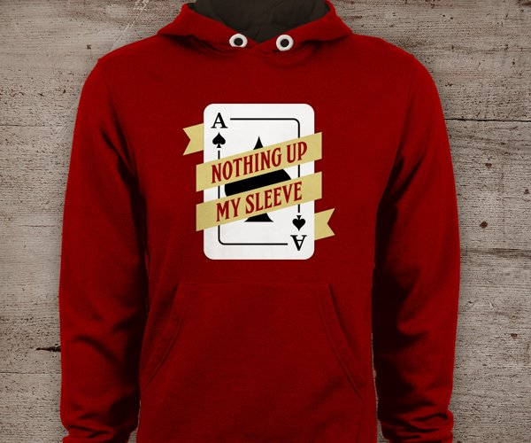 Ace of Spades Nothing Up My Sleeve SVG File Cutting Template example image 1