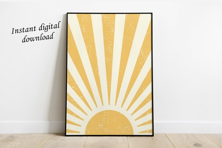 Sun Printable Art Wall Decor ,Sun Art Print Boho example image 1