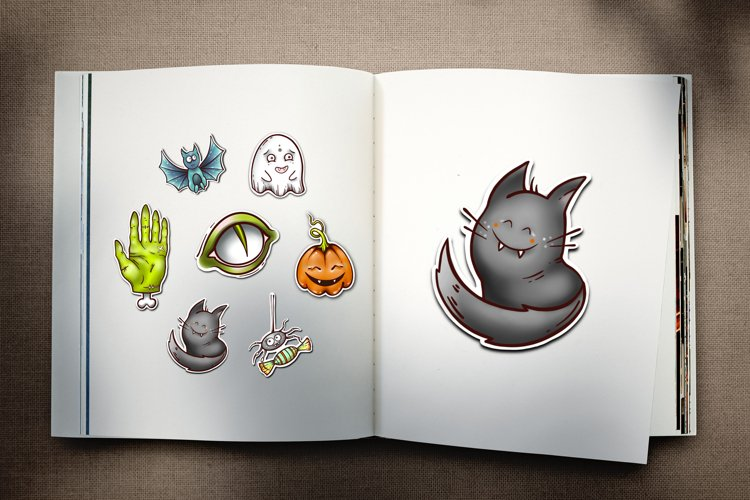 Cute Halloween sticker pack Sublimation Clip Art