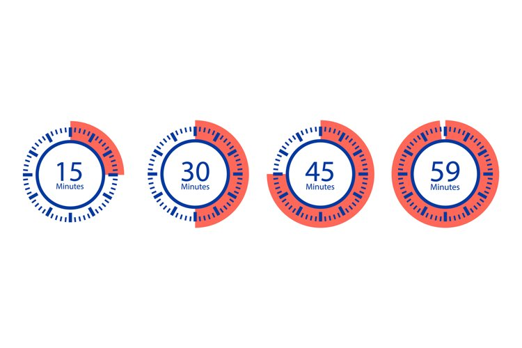 Stopwatch vector icons. Timer isolated on white background example image 1