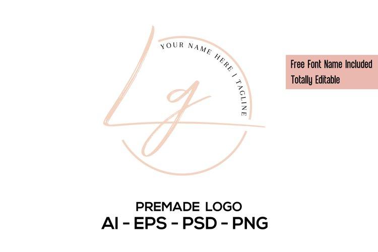 Feminine Premade Logo, Minimalist Logo, Script Logo Design