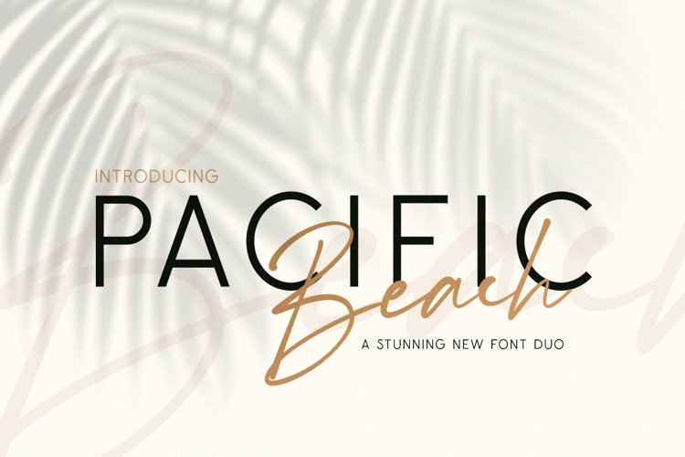 Pacific Beach Font Duo example image 1