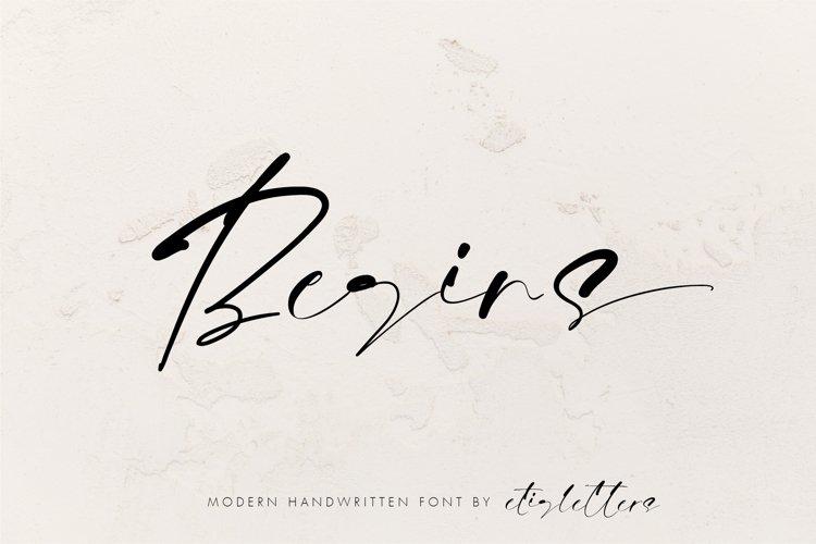 Begins Signature Handwritten example image 1