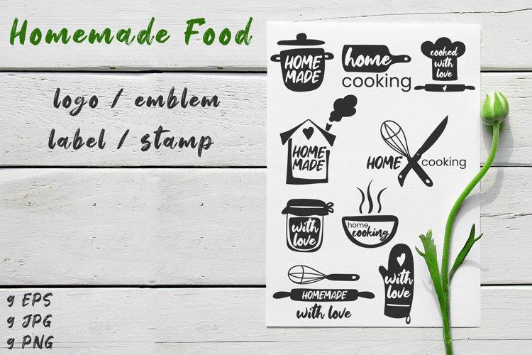 Homemade food logo / emblem / label / stamp example image 1