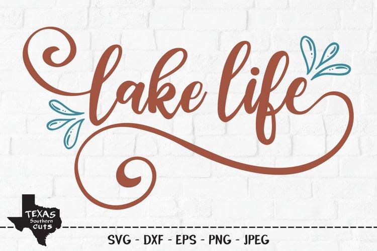 Lake Life SVG, Cut File, Summer Shirt Design, Outdoor Fun example image 1