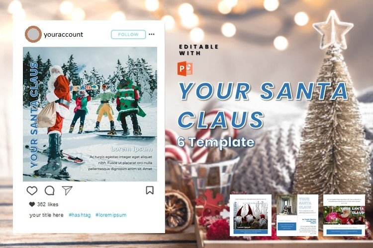 Instagram Post Template - Santa Claus