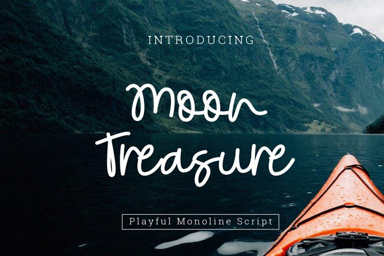 Moon Treasure Font Script example image 1