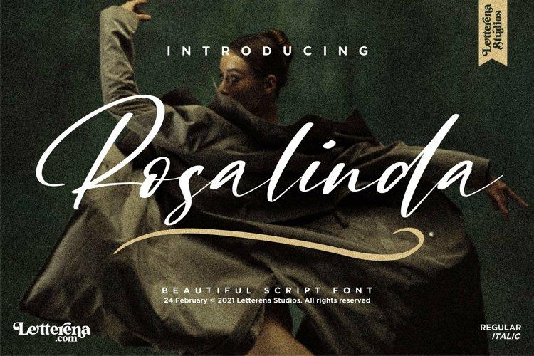 Rosalinda - Beautiful Script Font example image 1