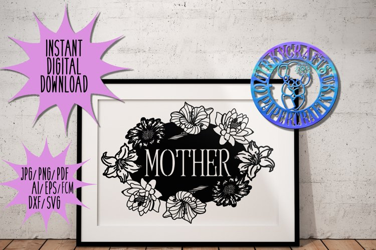 4 x Floral Mothers Day papercutting templates