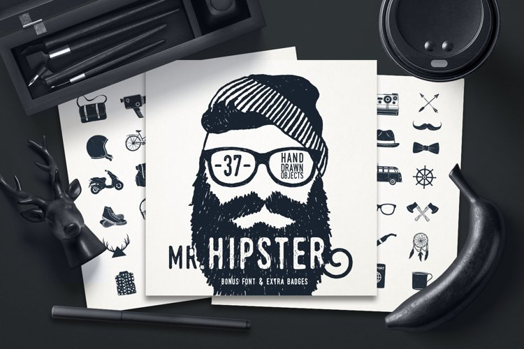 Mr.Hipster. 37 Hand Drawn Objects example image 1