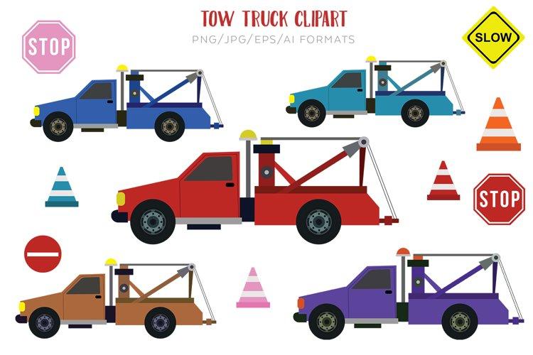 Tow Truck Vector Clipart