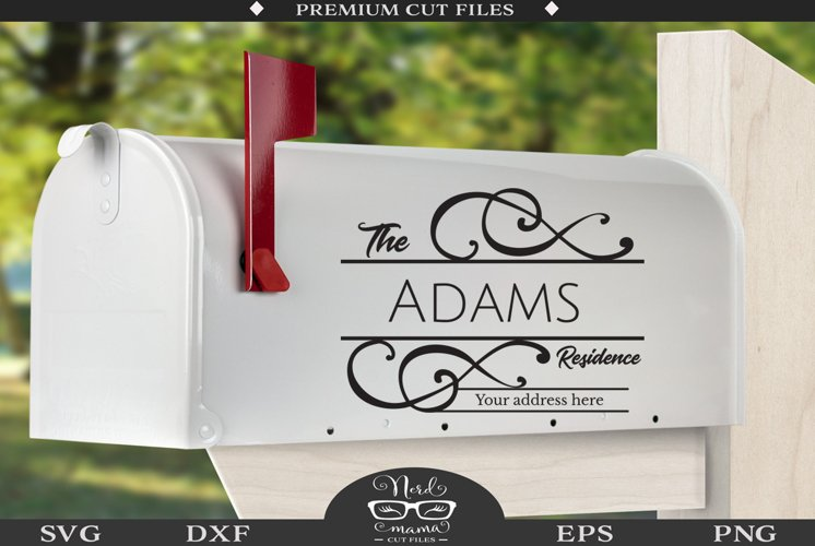 Mailbox Decal Cut File - Home Sign SVG